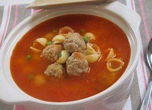 Resep Sup Merah Dengan Bola Daging