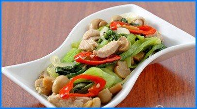 Resep Masakan Tumis Pokcoy Ayam Jamur
